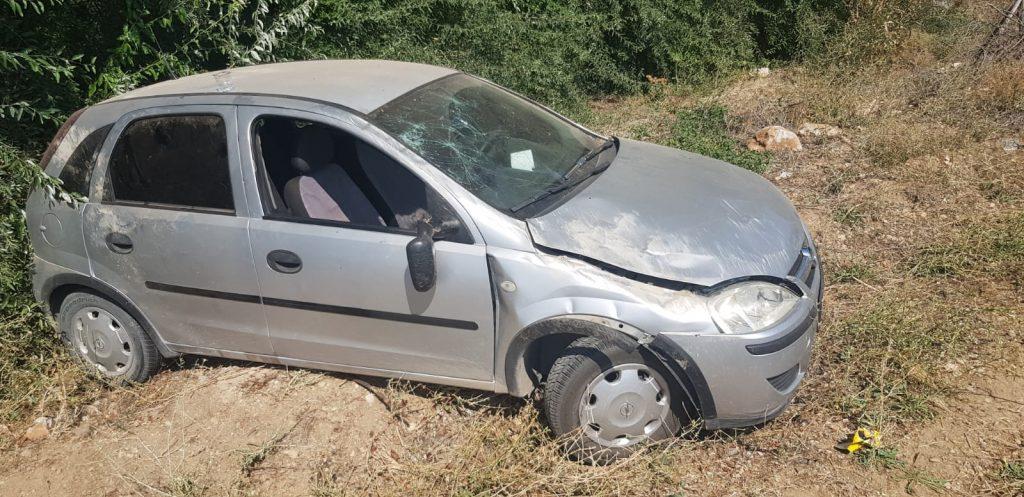 Elbistan'da kontrolden çıkan otomobil devrildi: 3 yaralı
