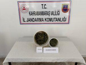 Afşin'de uyuşturucu operasyonu