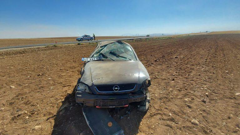 Kahramanmaraş'ta otomobil takla attı: 1'i ağır 3 yaralı